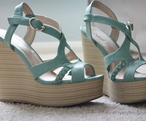 mint, shoes, and wedges image