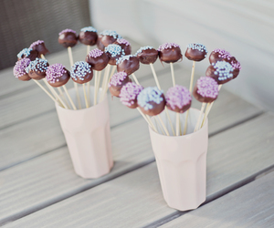 blue, cake pops, and candy image