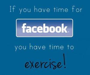 exercise, facebook, and fit image