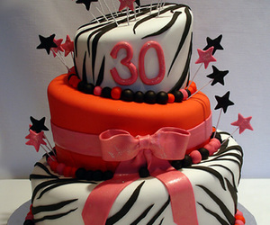 Zebra Print Topsy Turvy Birthday Cake » Pink Cake Box Wedding Cakes _ more
