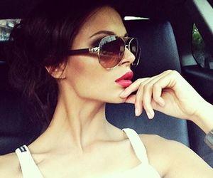 girl, car, and lips image