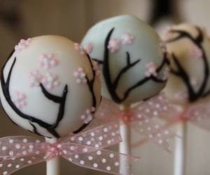 blossom, cherry, and cake image