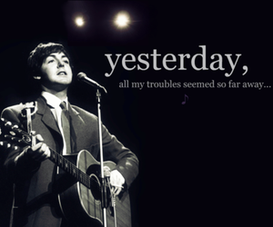 Paul McCartney, the beatles, and yesterday image