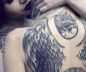tattoo, girl, and wings image