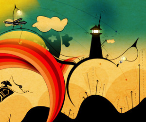 abstract and lighthouse image