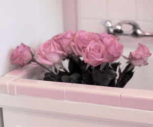 flowers, pink, and sink image