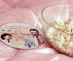 pink, popcorn, and roman holiday image