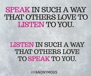 quotes, listen, and love image