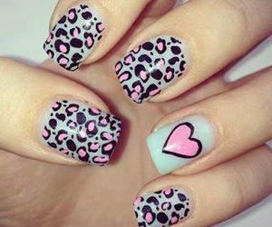 nails, heart, and pink image