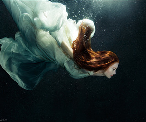 water, woman, and underwater image