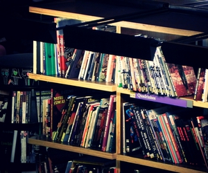 book, comics, and book store image