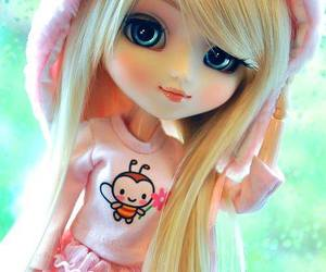 doll and pink image