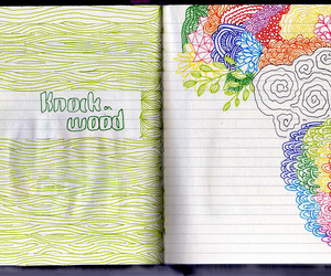 art, art journal, and color image