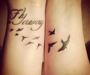tattoo, fly, and bird image
