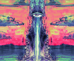 art, eye, and trippy image