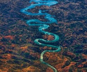 river, nature, and dragon image