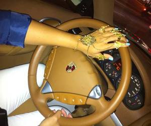 girl, car, and nails image