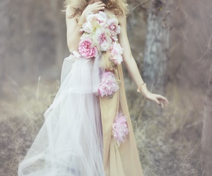 fairy, flowers, and girl image