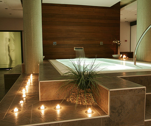 luxury, bathroom, and candle image