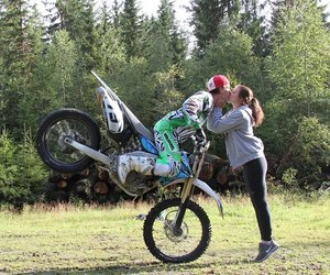 me and my boyfriend and motocross love image