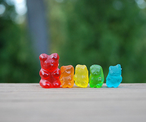bears, candy, and blue image