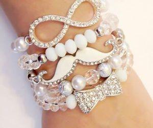 fashion, bracelet, and white image