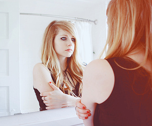 Avril Lavigne and mirror image