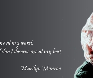 Marilyn Monroe, quote, and love image