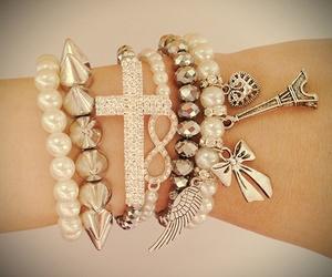 bracelet, fashion, and cross image