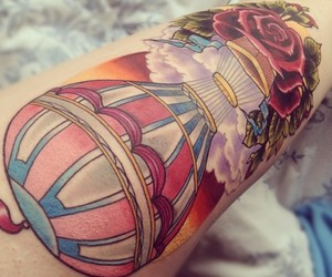 colourful, hot air balloon, and pretty image