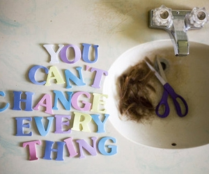 change, hair, and quote image