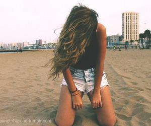beach, shorts, and summer image