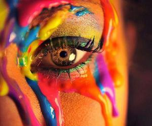 colors, girl, and eye image