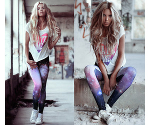 fashion, blonde, and galaxy image