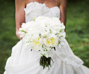 bouquet, flower, and dress image