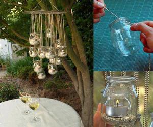 diy, candle, and light image
