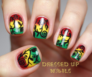 Rasta floral nail art uploaded by putabowonit prinsesfo Choice Image