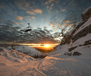 chair lift, chairlift, and snow image