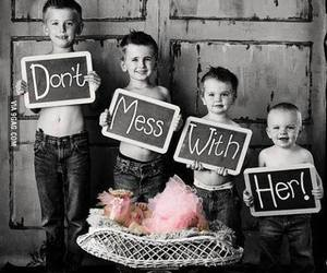 brothers, baby, and sisters image