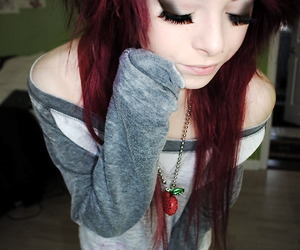 girl, hair, and red hair image