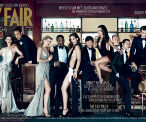Mila Kunis, Anne Hathaway, and Vanity Fair image
