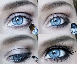 eyes, girl, and make up image