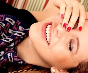 girl, nail, and red image