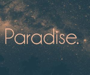 paradise, stars, and galaxy image