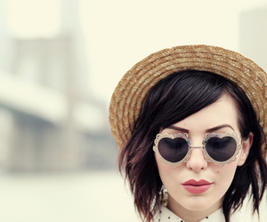 hat, sunglasses, and cute image