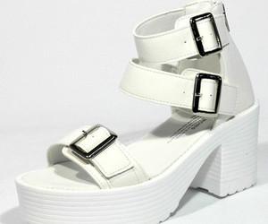 monocrome, platform, and sandal image