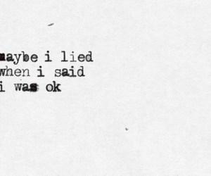 quote, sad, and lies image