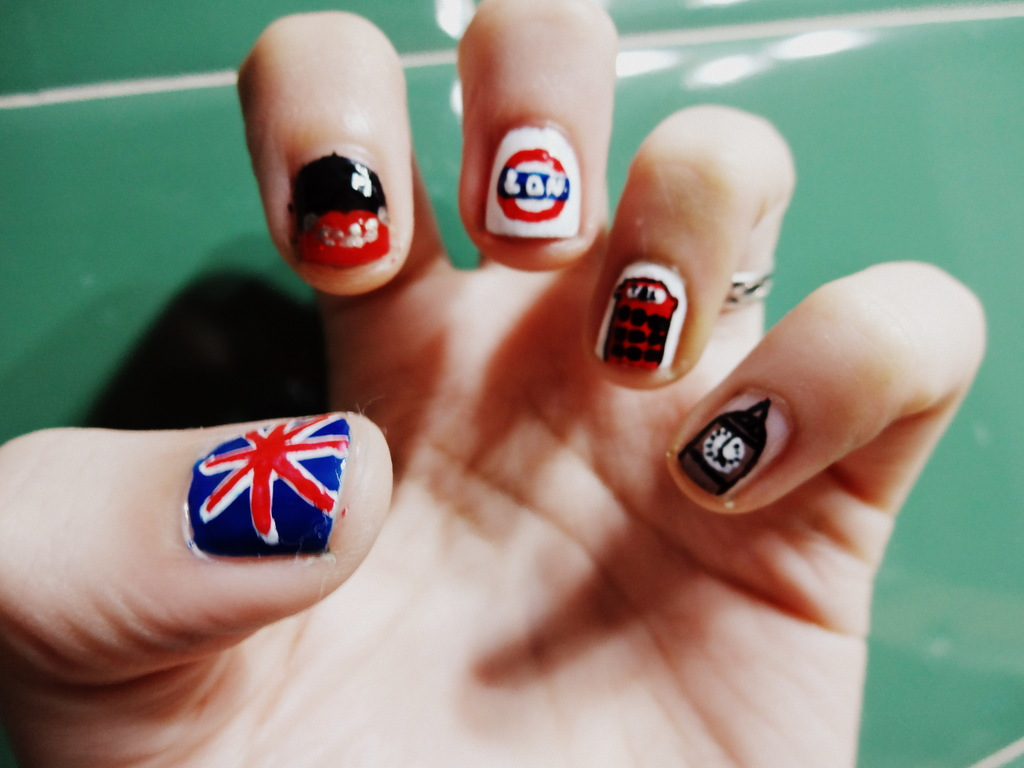 London nail art by me on we heart it prinsesfo Images