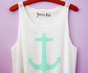 anchor, crop top, and loveee image