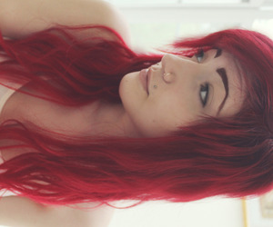 girl, red hair, and hitoriookami image